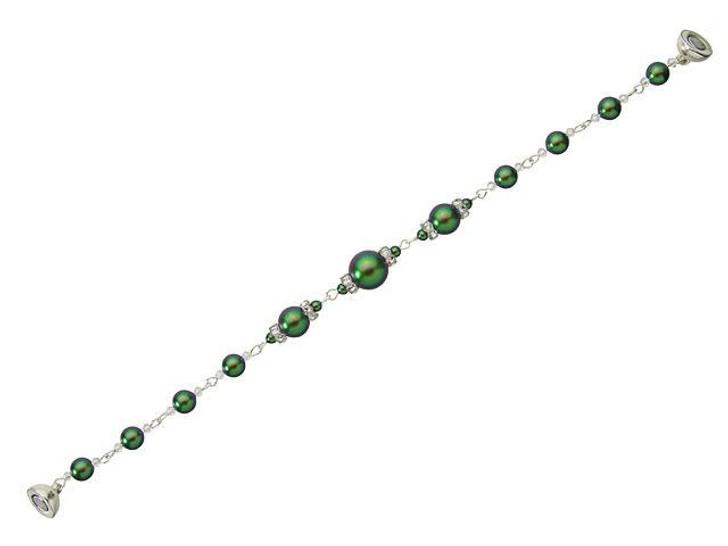 Swarovski Pearl Panache Bracelet Kit - Scarabaeus Green