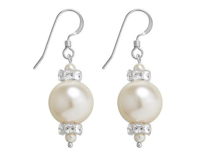 Swarovski Pearl Panache Earrings Kit - Cream