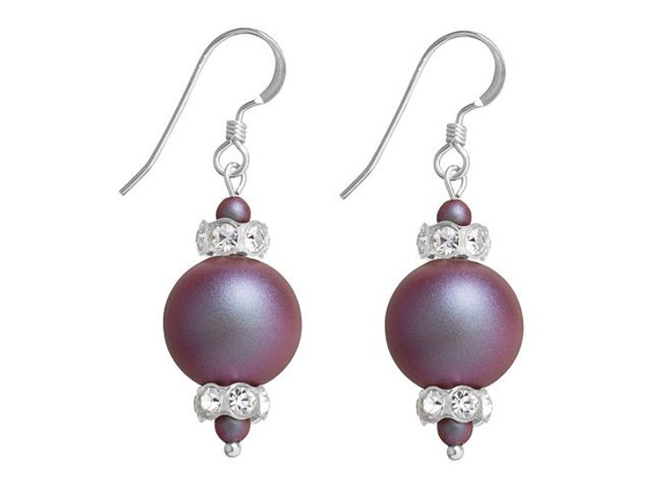 Swarovski Pearl Panache Earrings Kit - Iridescent Red