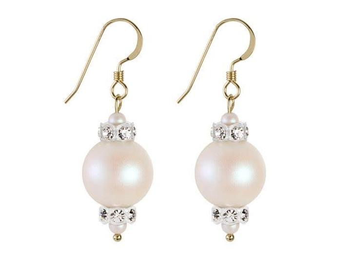 Swarovski Pearl Panache Earrings Kit - Pearlescent White