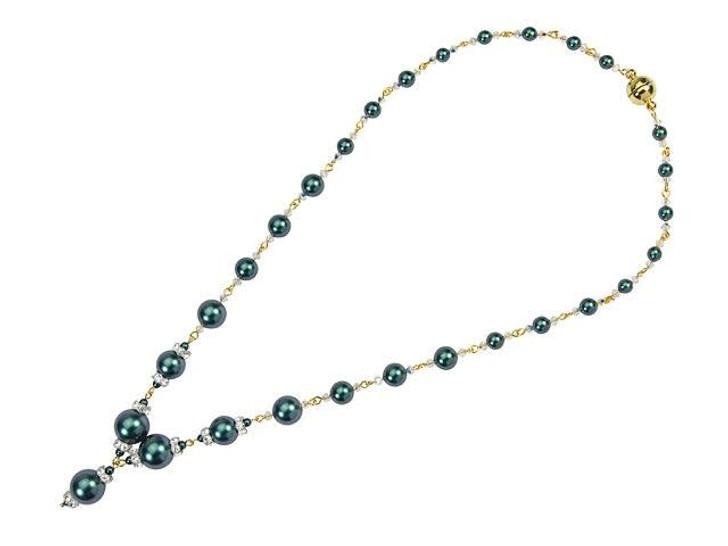 Swarovski Pearl Panache Necklace Kit - Iridescent Tahitian Look in Gold