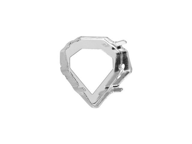 Swarovski Rhodium-Plated Setting for 4928 12mm Tilted Chaton Fancy Stone
