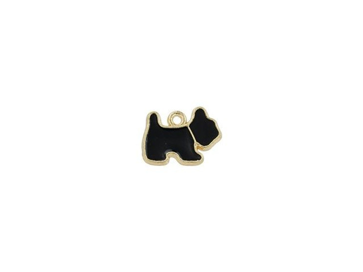 Sweet & Petite Charms 14 x 11mm Black Scottie Dog (10pc Pack)