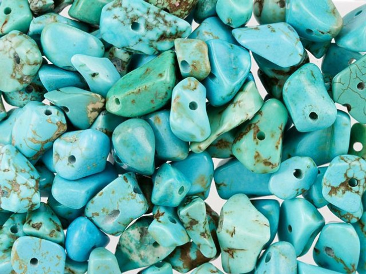 Synthetic Chinese Turquoise Loose Gemstone Chip Beads 100g Bag