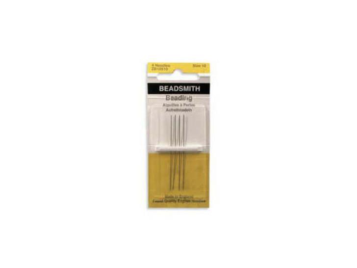 The BeadSmith 10 Long English Beading Needles 4-Pack