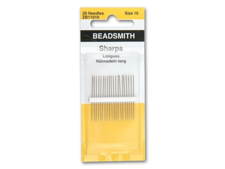 The BeadSmith 10 Short Beading Needles 20-Pack