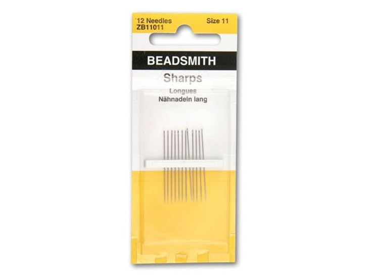 The BeadSmith 11 Short Beading Needles 12-Pack