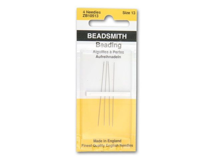 The BeadSmith 13 Long English Beading Needles 4-Pack