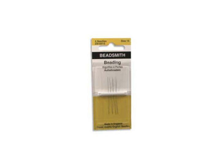 The BeadSmith 15 Long English Beading Needles 4-Pack