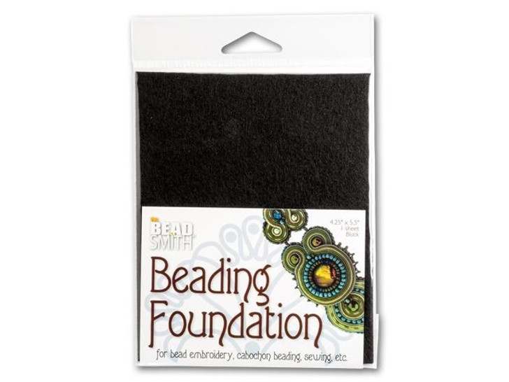 The BeadSmith 4.25x5.5-Inch Black Bead Backing