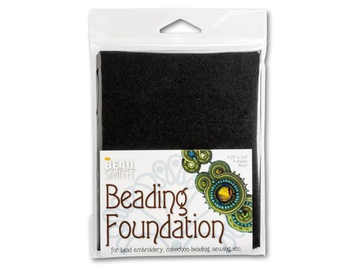 The BeadSmith 4.25x5.5-Inch Black Bead Backing (4 pc)