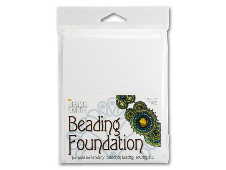 The BeadSmith 4.25x5.5-Inch White Bead Backing (4 pc)