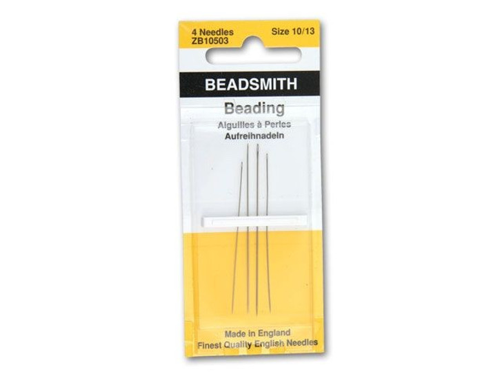 The BeadSmith 4-Pack Long English Beading Needle Assortment