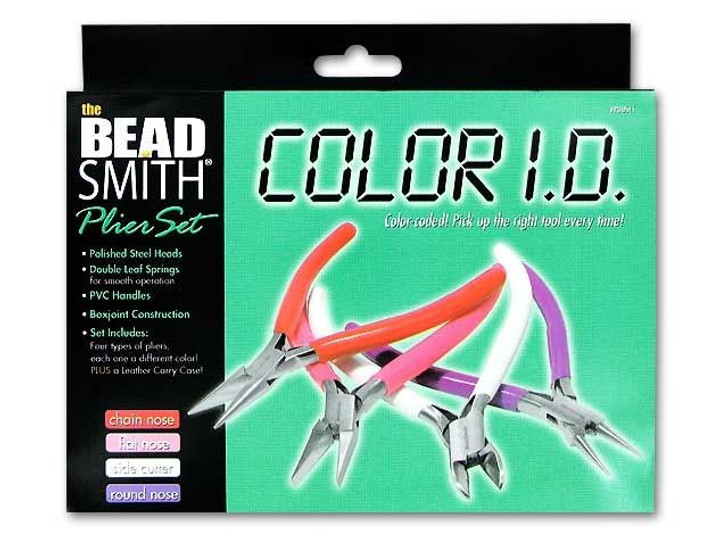 The BeadSmith 4-Piece Color ID Plier Set