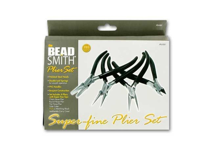 The BeadSmith 4-Piece Plier Set - Black