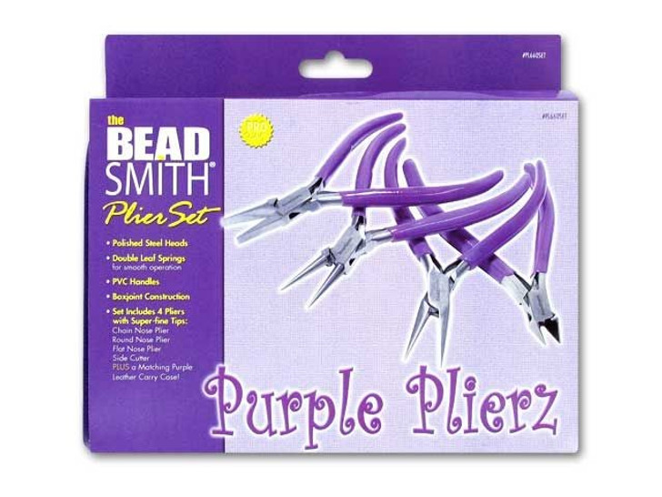 The BeadSmith 4-Piece Plier Set - Purple