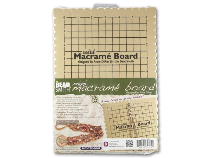 The BeadSmith 7.5x10.5 Inch Mini Macrame Board