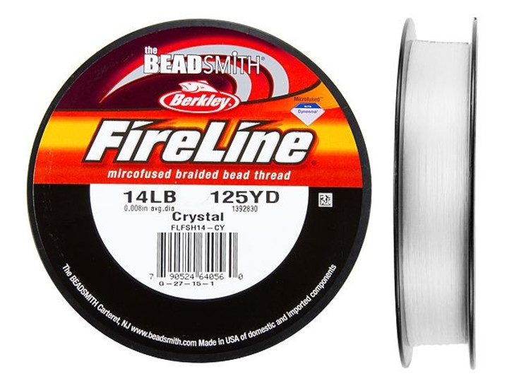 The BeadSmith Crystal FireLine - 125 Yards (14-Pound Test)