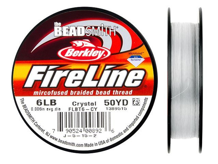 The BeadSmith Crystal FireLine - 50 Yards (6-Pound Test)