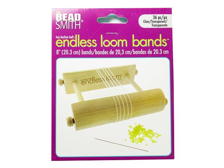 The Beadsmith Endless Loom Bands 8-Inch Clear (6 Pack)