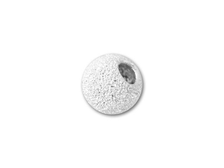 5mm Sterling Silver Round Stardust Bead with 2.2mm Hole