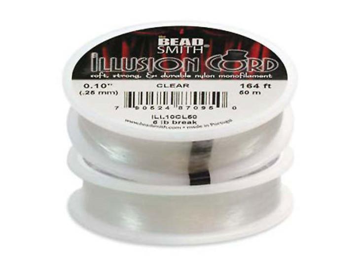 The BeadSmith Illusion Monofilament Cord .010 Diameter, 50 Meter Spool