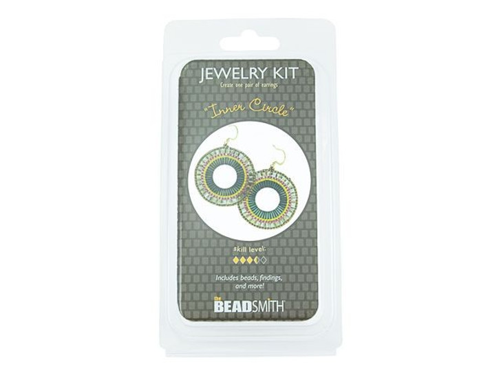 The BeadSmith Inner Circle Earrings Bead Kit