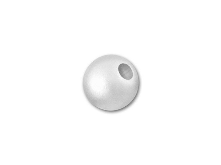 5mm Sterling Silver Seamless Round Bead (Matte/Satin)