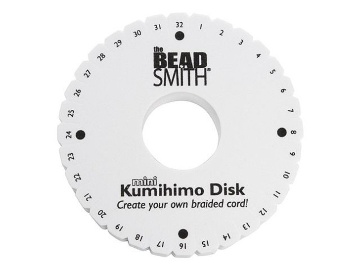 The BeadSmith Kumihimo Mini Thick Round Foam Disk