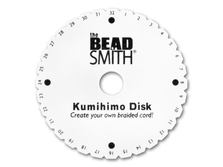 The Beadsmith Kumihimo Round Braiding Foam Disk with Instructions