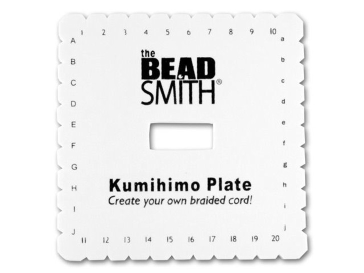 The Beadsmith Kumihimo Square Braiding Foam Disk with Instructions