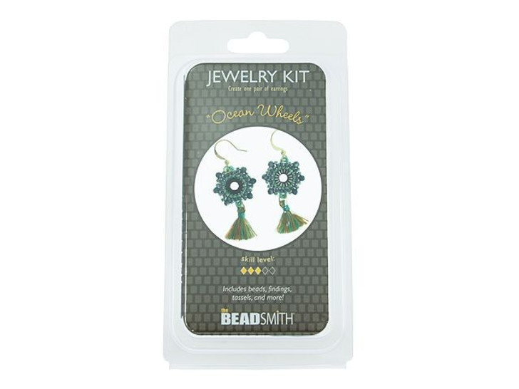 The BeadSmith Ocean Wheels Earrings Bead Kit