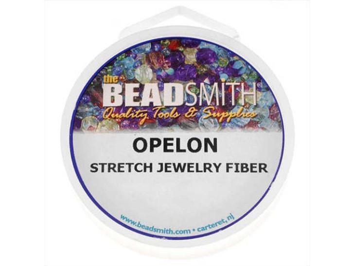 The BeadSmith Opelon White .7mm Stretch Jewelry Fiber Cord (5 Meters)