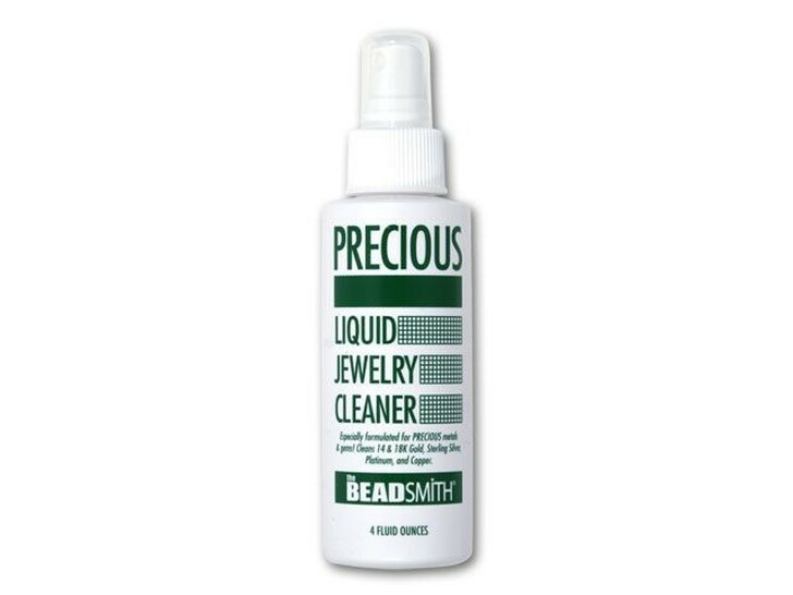 The BeadSmith Precious Metal Liquid Jewelry Cleaner 4 oz