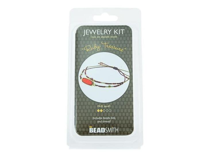 The BeadSmith Ruby Treasure Bracelet Bead Kit