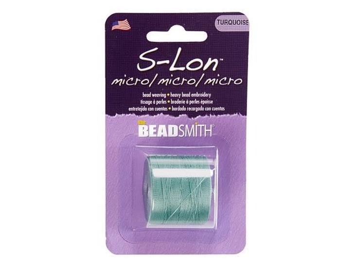 The Beadsmith S-Lon (Super-Lon) Micro Bead Cord Turquoise 287-Yard Spool