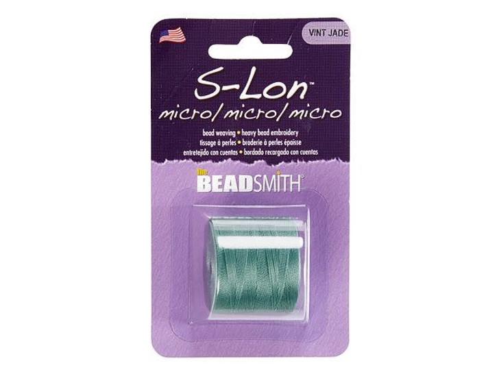 The Beadsmith S-Lon (Super-Lon) Micro Bead Cord Vintage Jade 287-Yard Spool