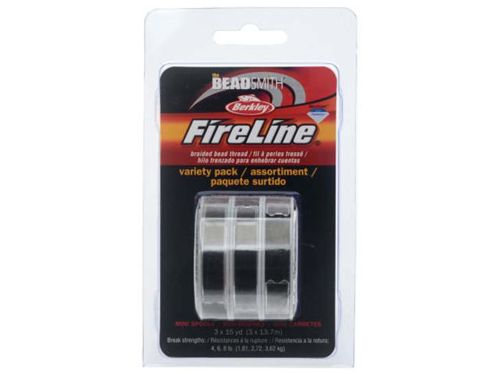 The Beadsmith Smoke FireLine - Assortment Pack