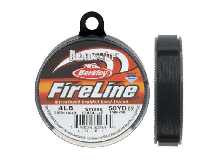 The BeadSmith Smoke Gray FireLine - 50 Yards (4-Pound Test)