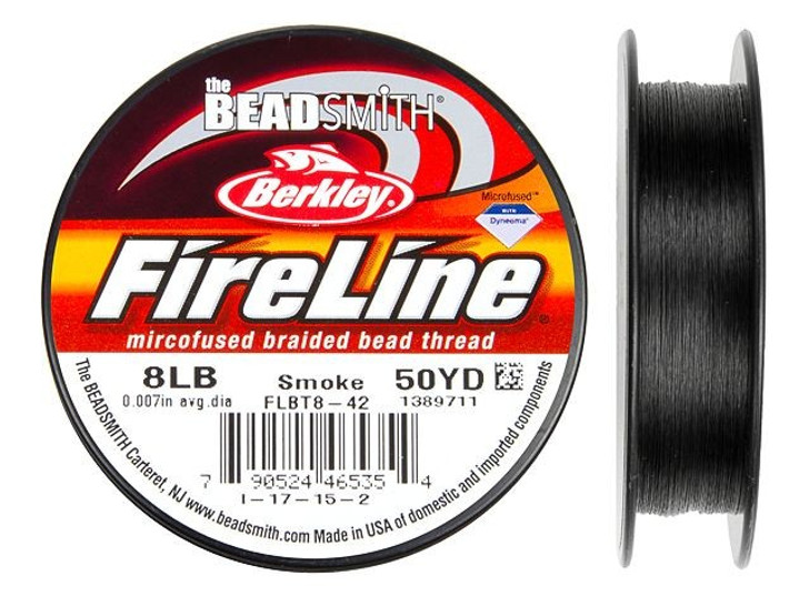 The BeadSmith Smoke Gray FireLine - 50 Yards (8-Pound Test)
