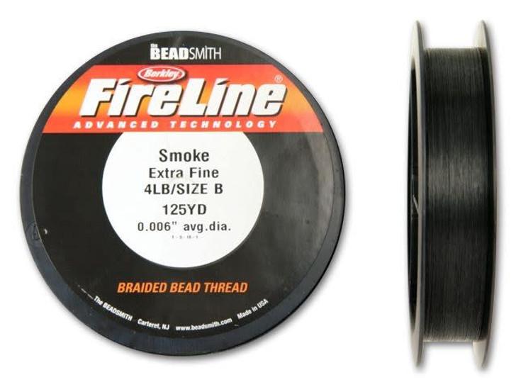 The BeadSmith Smoke Grey FireLine - 125 Yards (4-Pound Test)