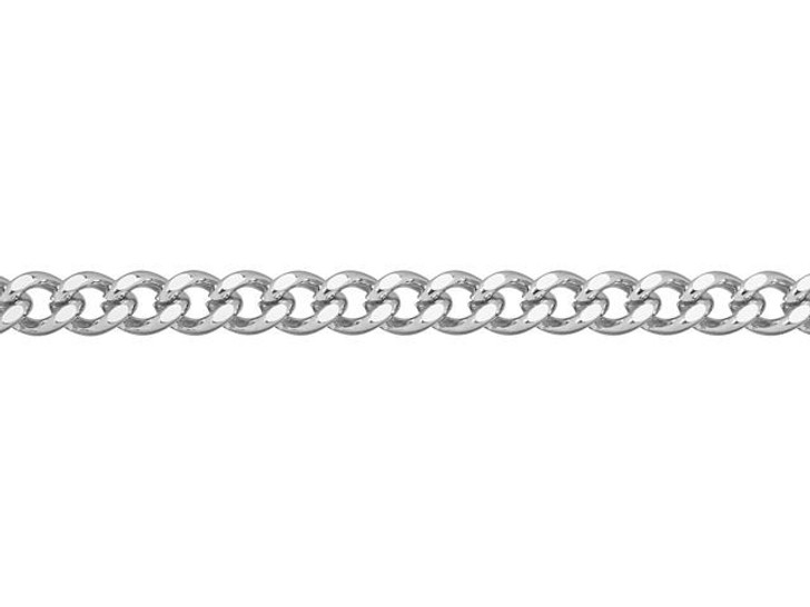 5x3.25mm Stainless Steel Hammered Curb Chain by the Foot