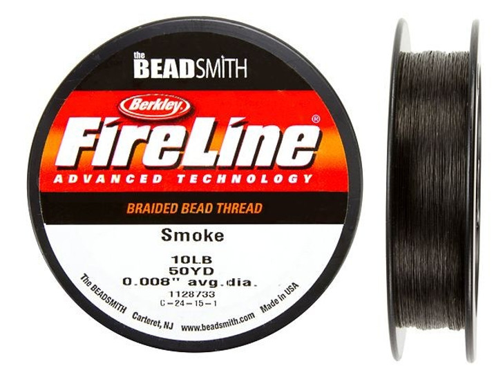 The BeadSmith Smoke Grey FireLine - 50 Yards (10-Pound Test)