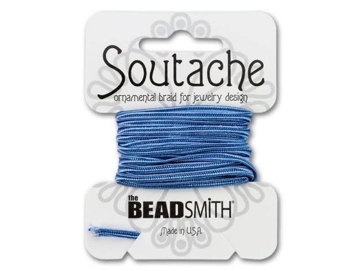 The BeadSmith Soutache Ornamental Rayon Braid 3 yd - Blue