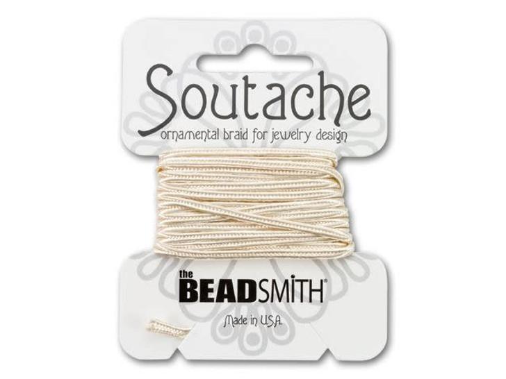 The BeadSmith Soutache Ornamental Rayon Braid 3 yd - Linen