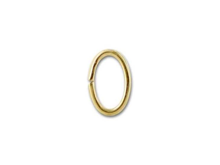 5x3.5mm Gold-Filled 14K/20 Oval Jump, 21 gauge