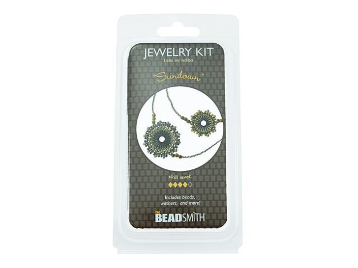 The BeadSmith Sundown Necklace Bead Kit