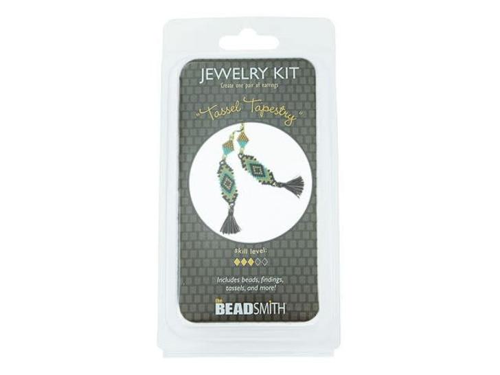 The BeadSmith Tassel Tapestry Earrings Bead Kit