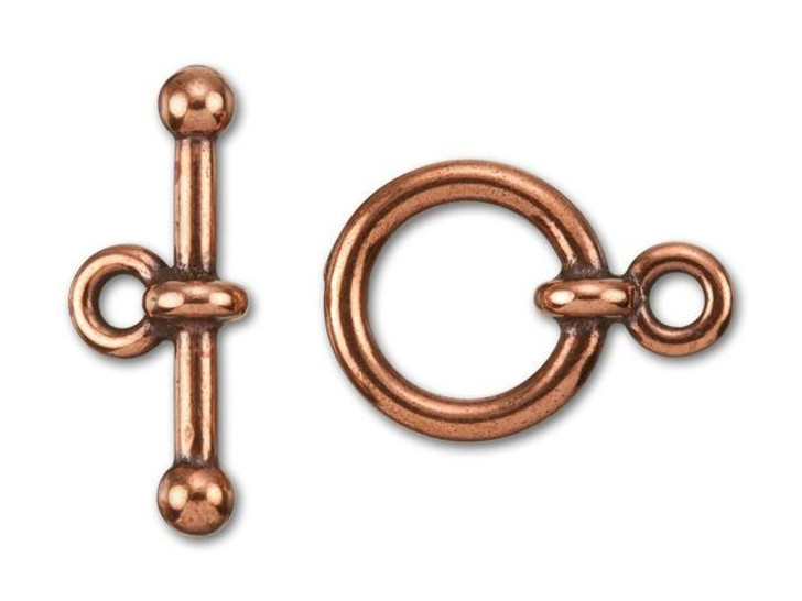 TierraCast 1/2-Inch Antique Copper-Plated Pewter Anna's Toggle and Clasp