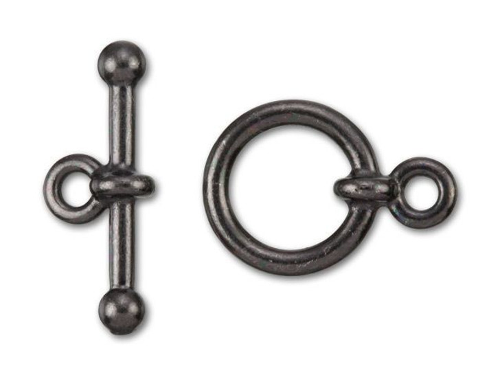 TierraCast 1/2-Inch Black Finish Pewter Anna's Toggle and Clasp